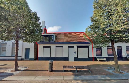 Verstrekte hypothecaire lening op een commerciële ruimte met een bovenwoning te Oost-Souburg