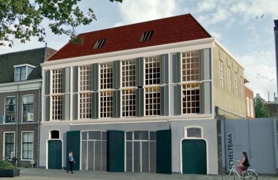 Verstrekte hypothecaire lening op een ontwikkeling van 7 appartementen en een kantoor met exitfee van € 16.500,- bestemd voor de verhuur te Leiden
