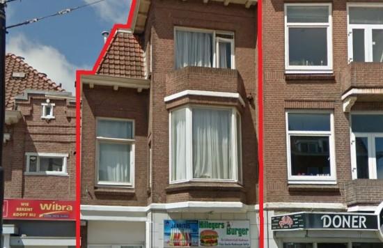 Verstrekte hypothecaire lening op een commerciële ruimte met aparte bovenwoning bestemd voor de verhuur te Rotterdam