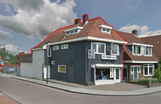 Verstrekte hypothecaire lening op een commerciële ruimte met bovenwoning bestemd voor de verhuur te Drachten