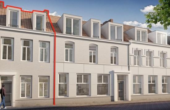 Verstrekte hypothecaire lening op een te ontwikkelen appartement met een exitfee van € 2.750,- te Sas van Gent