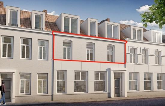 Verstrekte hypothecaire lening op een te ontwikkelen appartement met een exitfee van € 1.875,- te Sas van Gent