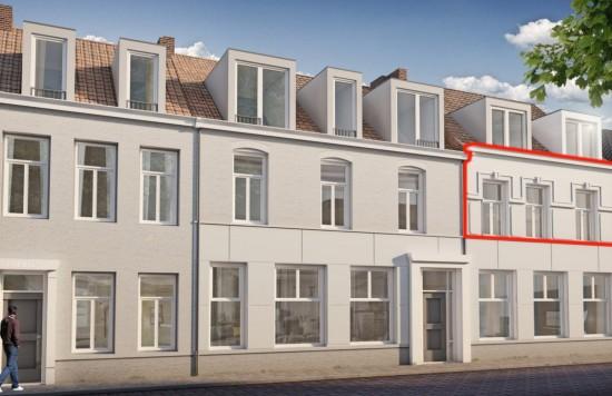 Verstrekte hypothecaire lening op een te ontwikkelen appartement met een exitfee van € 1.625,- te Sas van Gent