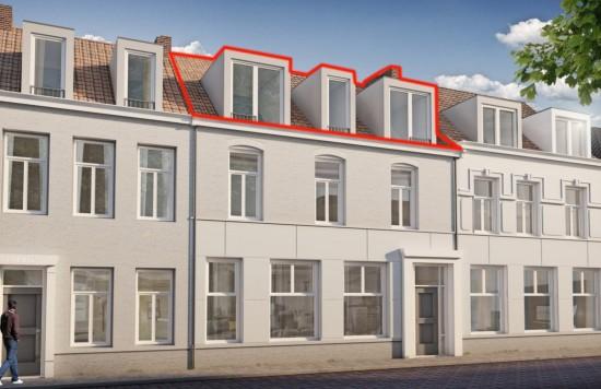 Verstrekte hypothecaire lening op een te ontwikkelen appartement met een exitfee van € 1.562,- te Sas van Gent