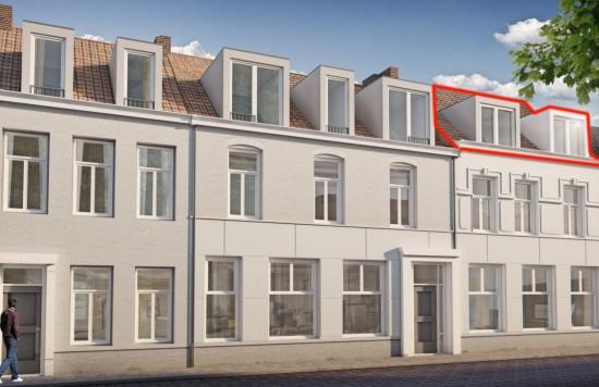 Verstrekte hypothecaire lening op een te ontwikkelen appartement met een exitfee van € 1.438,- te Sas van Gent