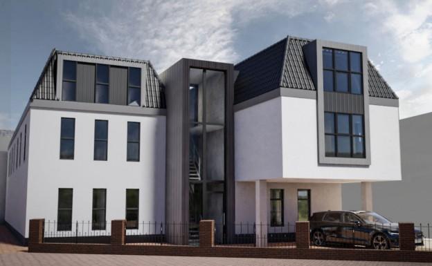 Te verstrekken hypothecaire lening op een commerciële ruimte met 11 nieuw te ontwikkelen studio's met een exitfee van € 6.500,- te Apeldoorn