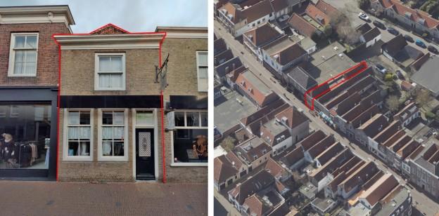 Te verstrekken hypothecaire lening op een winkelruimte met ruimte voor een bovenwoning bestemd voor de verhuur te Brielle