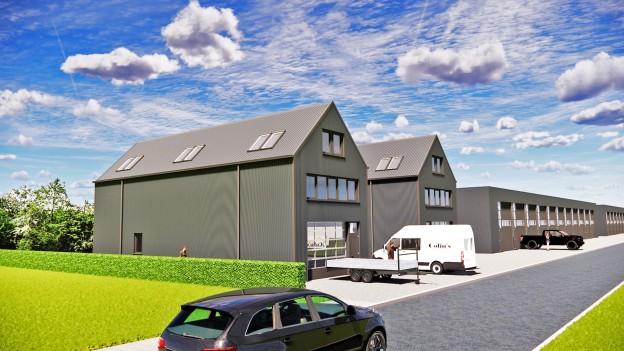 Te verstrekken hypothecaire lening op een nieuw te bouwen bedrijfsruimte voor eigen gebruik met een exitfee van € 1.500,- te Roden