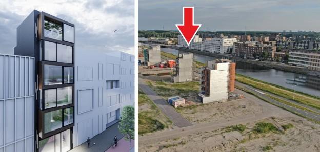 Te verstrekken hypothecaire lening op een nieuw te bouwen herenhuis met een exitfee van € 12.750,- te Amsterdam