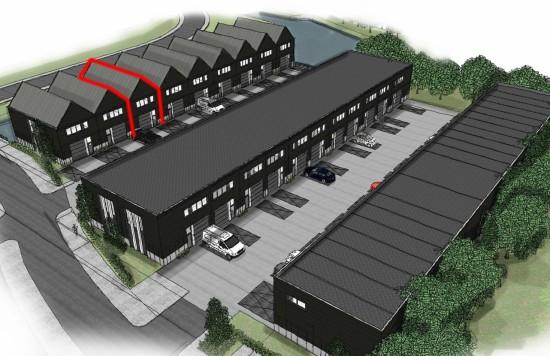 Verstrekte hypothecaire lening op een nieuw te bouwen bedrijfsruimte, deels bestemd voor de verhuur, te Aalsmeer (met 3 parkeerplaatsen)