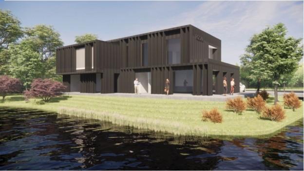 Te verstrekken hypothecaire lening op een nieuw te bouwen kantoorvilla, bestemd voor eigen gebruik en deels voor de verhuur, te Rhoon