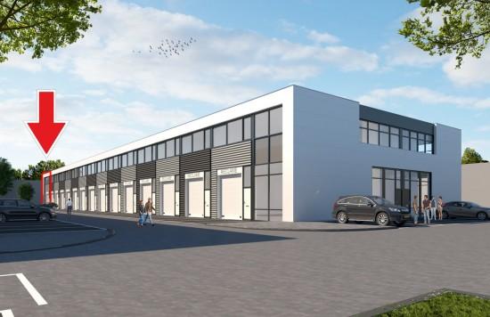 Verstrekte hypothecaire lening op een nieuw te bouwen bedrijfsruimte bestemd voor eigen gebruik te Breda (met vier parkeerplaatsen)